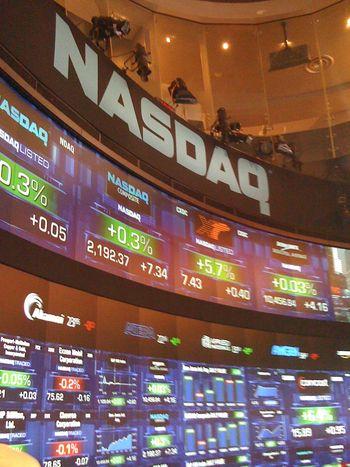 NASDAQ wall