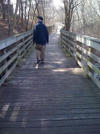 Jeff on bridge