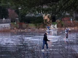 Thin ice hockey