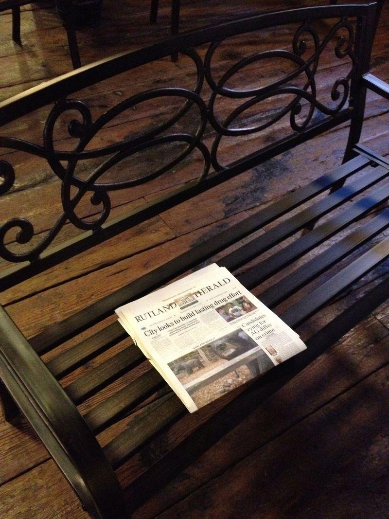 A newspaper!
